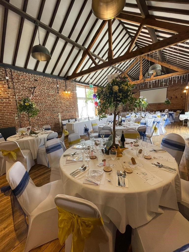 Tithe Barn wedding and function rooms at the Elm Tree pub at Ringwood